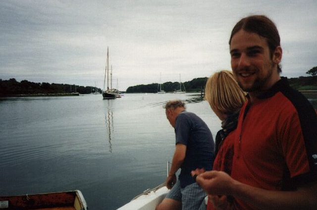 Marine Biological Laboratory, Woods Hole. With Max, Janka and Philip, going to fish quahogs. Summer 1997.