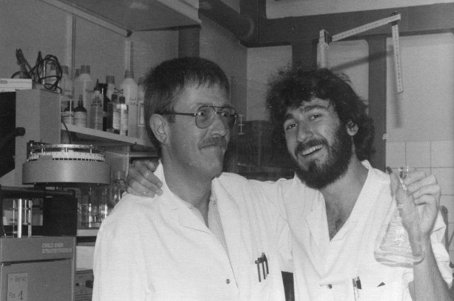 CIBA-GEIGY, Basel. With Hans and Erlenmeyerli. September 1986