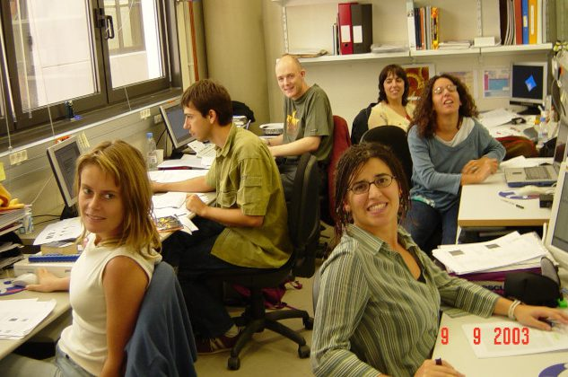 Working hard to give birth to IBEC. September 2003